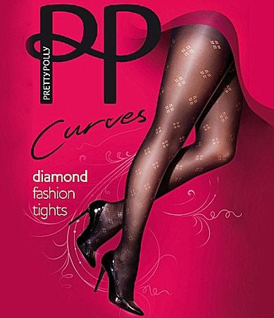 Pretty Polly Curves Woman Dot Diamond Tights