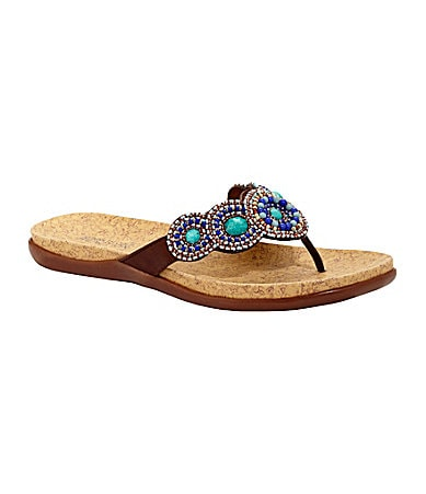 Kenneth Cole Reaction Groovy Glam Bead-Detail Sandals