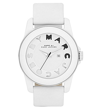 Marc By Marc Jacobs Ladies Icon Stripe White Watch
