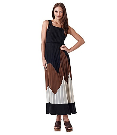 Adrianna Papell Colorblock Maxi Dress