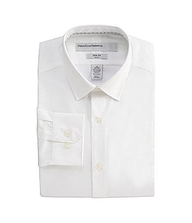 Perry Ellis Birdseye Solid Dress Shirt