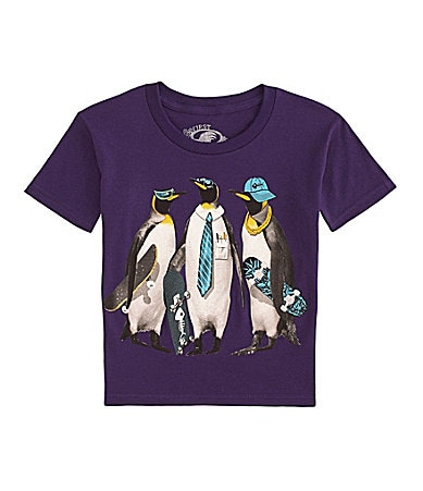 First Wave 8-20 Cool Penguin Screenprint Tee