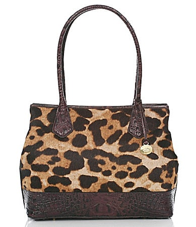 Brahmin Leopard Luxe Hair Calf Collection Anytime Tote