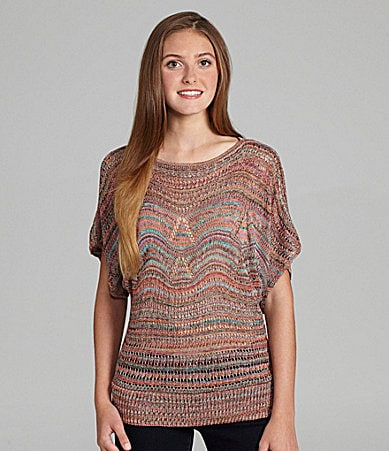 Copper Key Pointelle Dolman Sweater