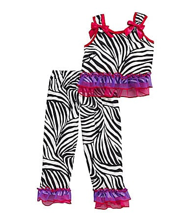 Laura Dare Infant Zebra Print Pajamas