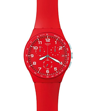 Swatch Red Shadow Watch