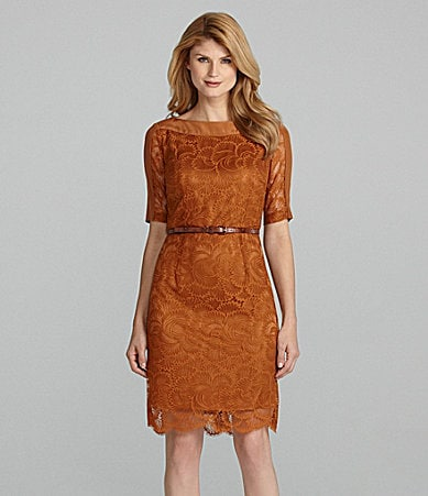 Antonio Melani Celo Lace Belted Dress