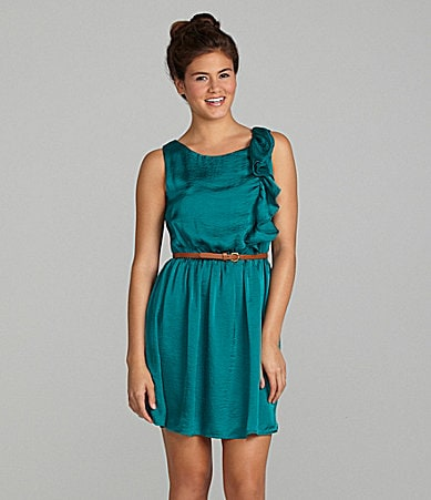 I.N. San Francisco Side Ruffle Dress