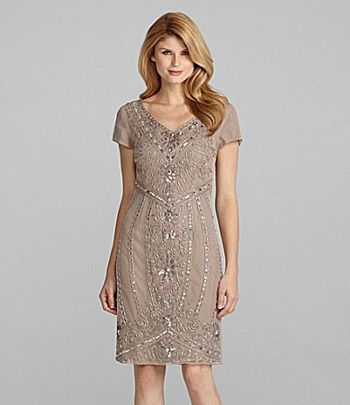 Antonio Melani Coco Cap-Sleeve Beaded Dress