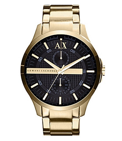 AX Armani Exchange Men�s Smart Goldtone Stainless Steel Watch