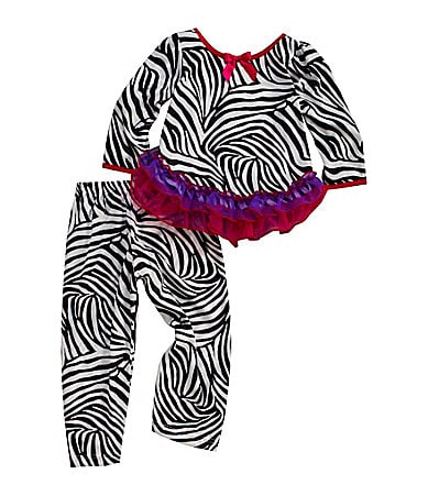 Laura Dare Infant Jeweled Zebra Pajamas