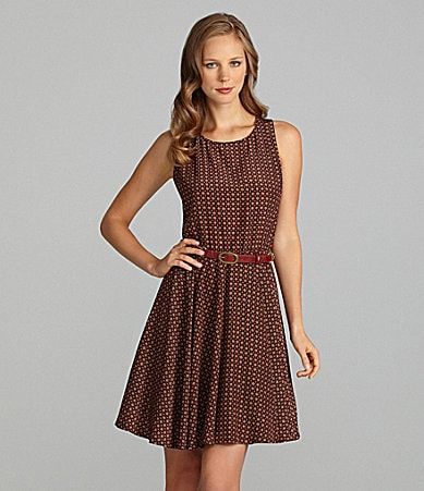 Cremieux Linny Sleeveless Printed A-line Dress