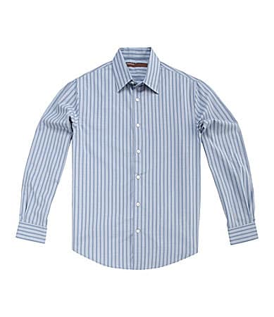 Perry Ellis Slim-Fit Striped Sportshirt
