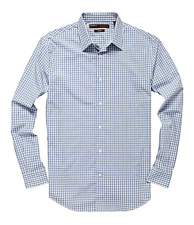 Perry Ellis Slim-Fit 3-Tone Check Sportshirt