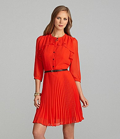 Cremieux Shania Pleated Shirtdress