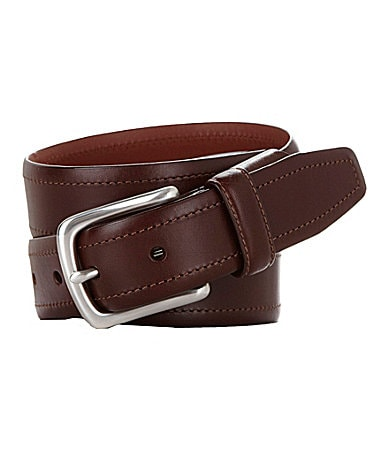 Roundtree & Yorke Elastic Tab Leather Belt