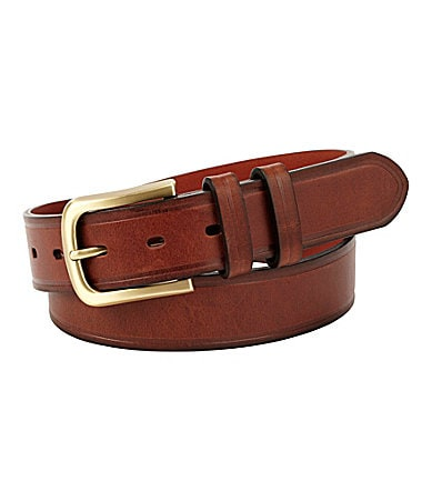 Cremieux Double Keeper Edge Crease Leather Belt