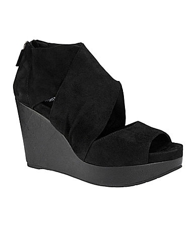 Eileen Fisher Draw Suede Wedges