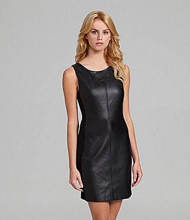 Sanctuary Clothing Faux-Leather Shift Dress