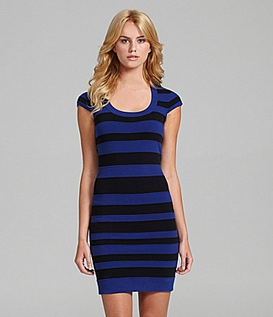 French Connection Bands of Color Striped Bandage Dress