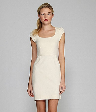 French Connection Georgia Cap-Sleeve Scoopneck Dress