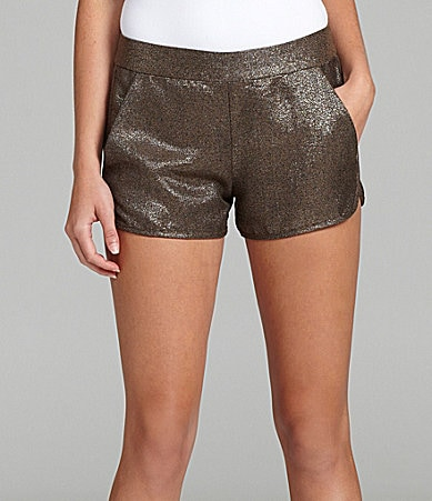 French Connection Galaxy Metallic Crepe Shorts