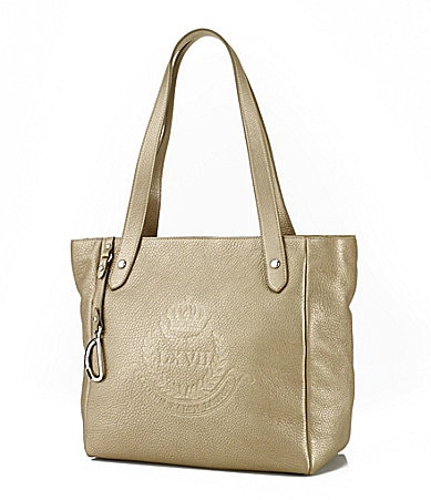 Lauren Ralph Lauren Putnum Leather Zip Tote