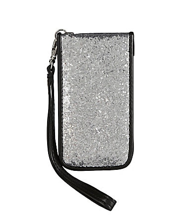 Gallery Design Glitter iPhone 4 Case with Removable Wristlet