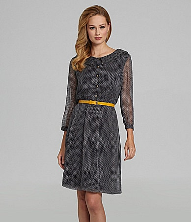 Antonio Melani Cecile Belted Cube-Print Dress
