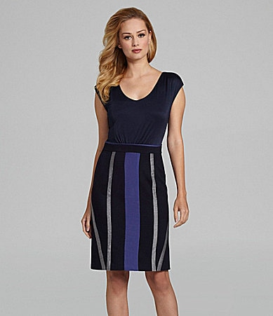 Antonio Melani Elba Colorblock Combo Dress