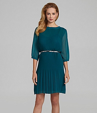 Antonio Melani Marina Pleated Dress
