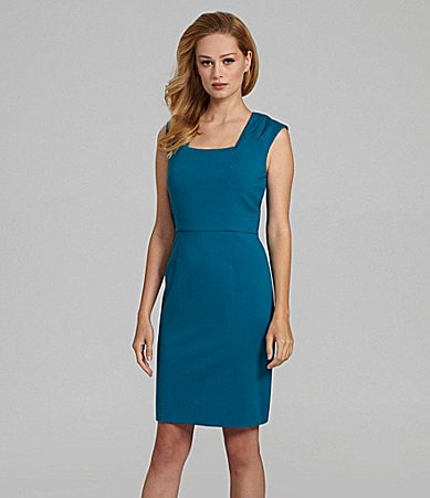 Antonio Melani Arabell Ponte Cap-Sleeve Dress
