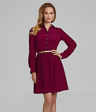 Antonio Melani Danielle Belted Shirtdress