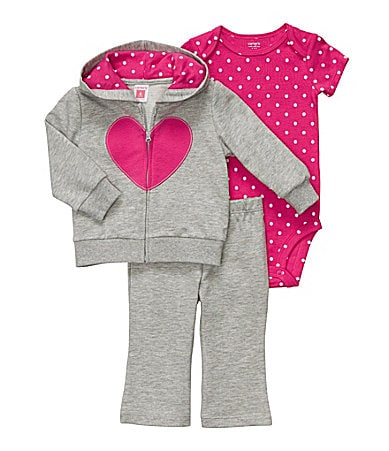 Carter�s Newborn 3-Piece Heart Cardigan & Pants Set