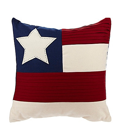 Cremieux American Flag Decorative Pillow