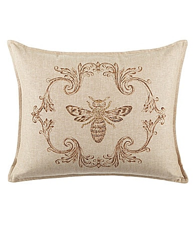 Cremieux Zardozi Decorative Bee Breakfast Pillows