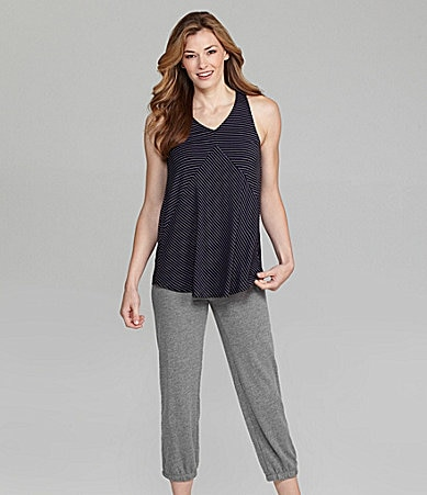 Half Moon by Modern Movement Stripe Racerback Tank & French Terry Capris