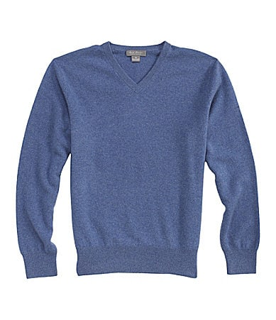 Daniel Cremieux Signature Solid Cashmere V-Neck Sweater