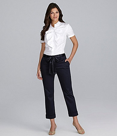 Alex Marie Josephine Sateen Blouse & Marie Ankle Pants