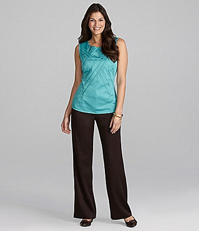 Alex Marie Petites Yezenia Sateen Blouse & Nala Satin-Faced Pant