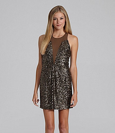 GB Sleeveless Sequin Sheath Dress