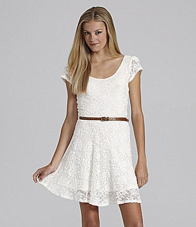 GB Cap Sleeve Lace Dress