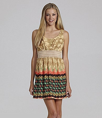 GB Sleeveless Border Printed Dress