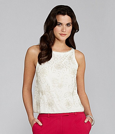 Gianni Bini Aileen Beaded Blouse
