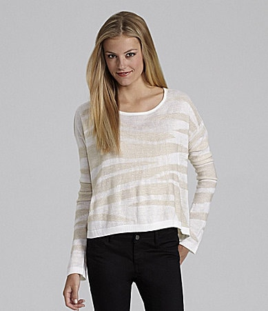 GB Textured Cropped Sweater