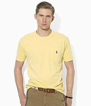 Polo Ralph Lauren Classic-Fit Short-Sleeved Cotton Jersey Pocket Crewneck T-Shirt
