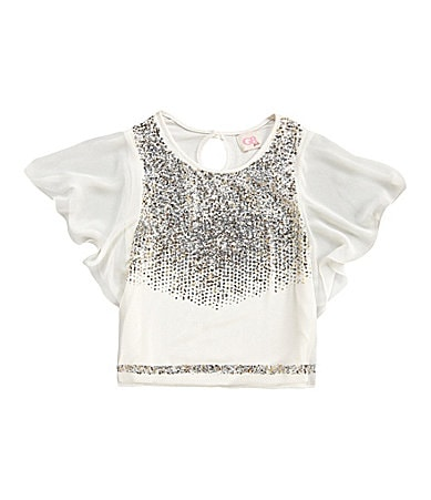 GB Girls 7-16 Short-Sleeved Sequin Blouse