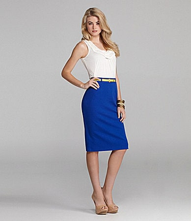 Cremieux Eve Knit Top & Mindy Pencil Skirt