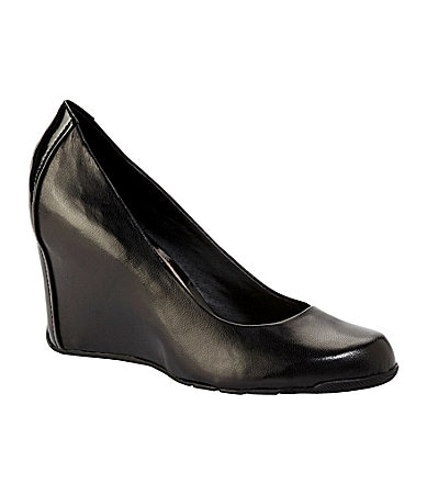 Kenneth Cole Reaction Did U Tell Leather Wedges