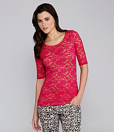 Gianni Bini Lucinda Floral Lace Top